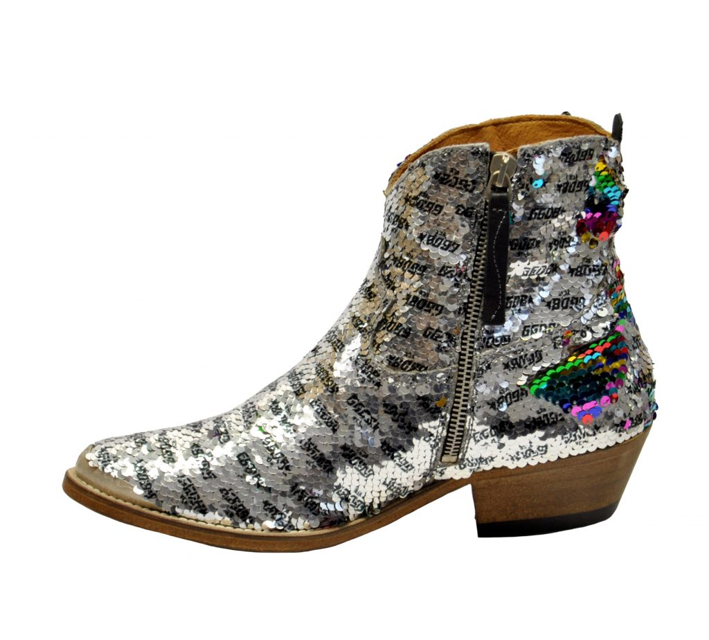 GOLDEN GOOSE DONNA Donna BOOTS YOUNG IN PAIETTES ARGENTO 36, 37-2, 38-2, 39-2, 40 immagine n. 3/4
