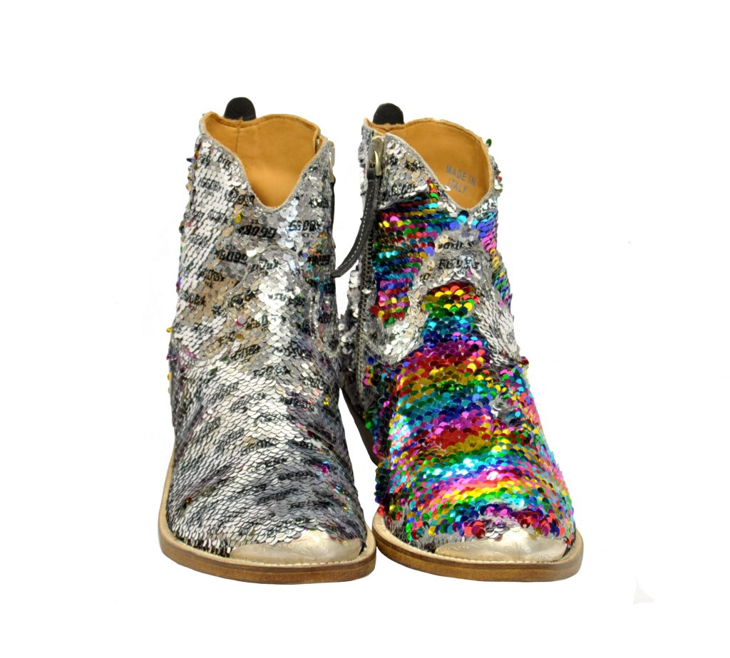 GOLDEN GOOSE DONNA Donna BOOTS YOUNG IN PAIETTES ARGENTO 36, 37-2, 38-2, 39-2, 40 immagine n. 2/4