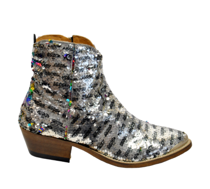 GOLDEN GOOSE DONNA Donna BOOTS YOUNG IN PAIETTES ARGENTO 36, 37-2, 38-2, 39-2, 40 immagine n. 1/4