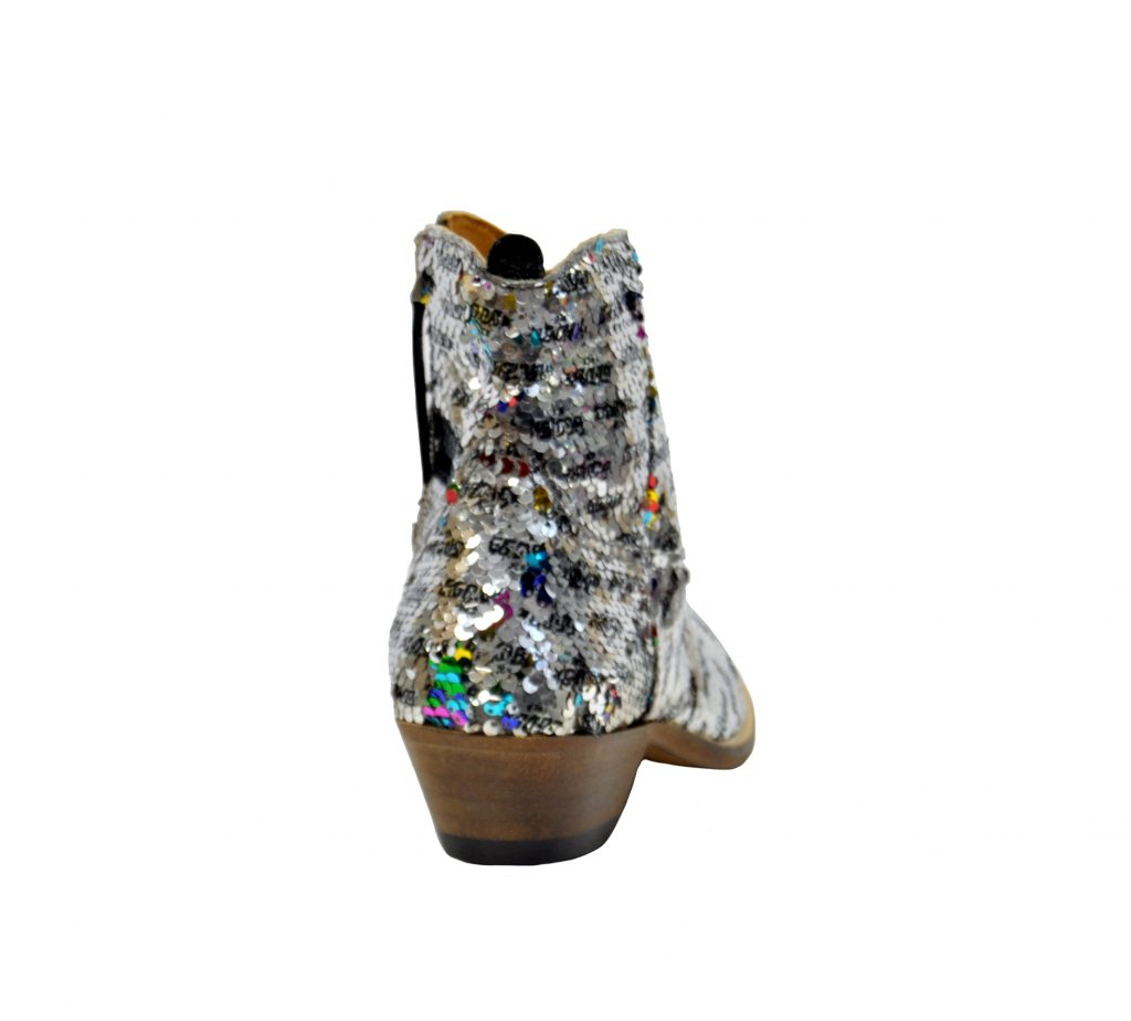 GOLDEN GOOSE DONNA Donna BOOTS YOUNG IN PAIETTES ARGENTO 36, 37-2, 38-2, 39-2, 40 immagine n. 4/4