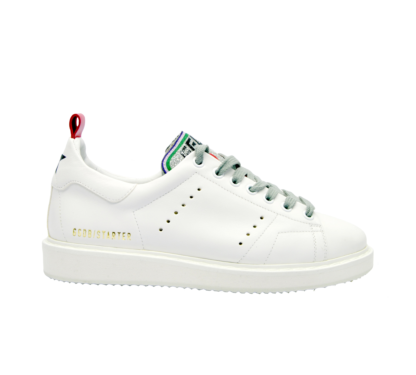 GOLDEN GOOSE DONNA Donna SNEAKERS STARTER BIANCO CUORI 37-2, 38-2, 39-2, 40, 36 immagine n. 1/4