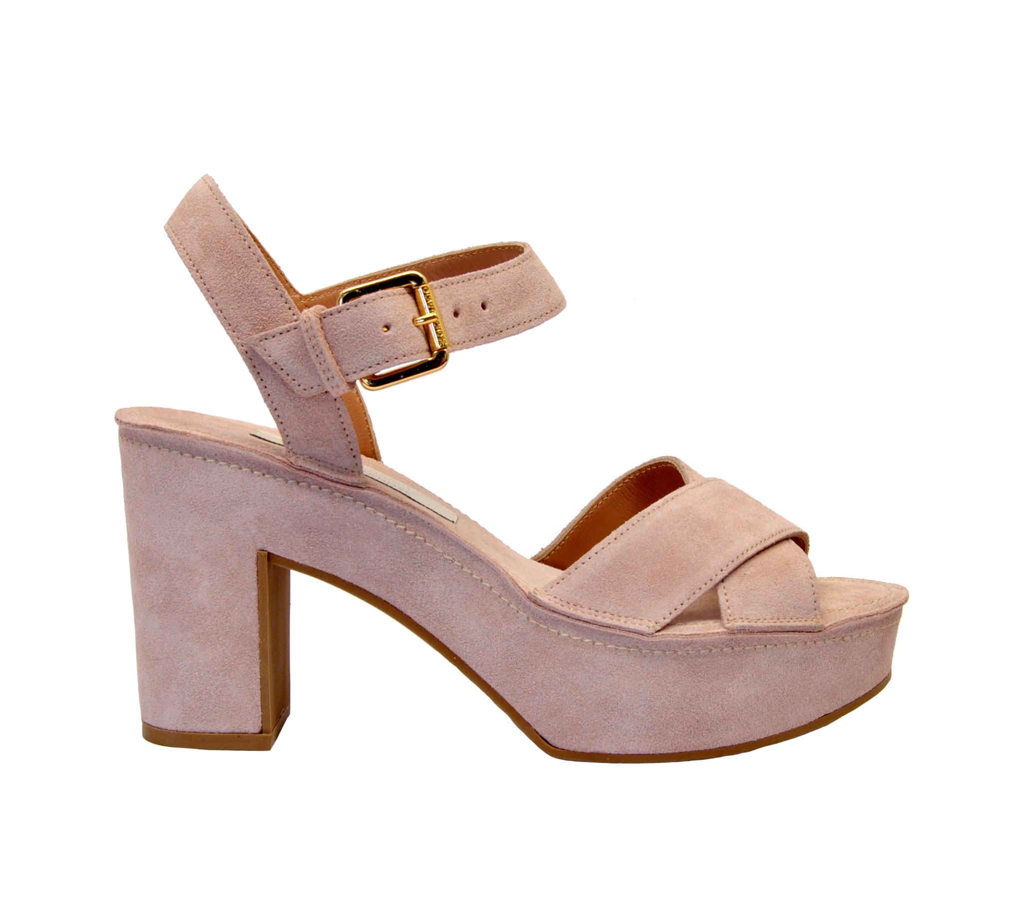 Camoscio Sandalo Claud Mary Rosa Zeppa 8N0XnOkPw