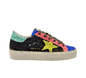 GOLDEN GOOSE DONNA Calzature SNEAKERS HI STAR GLITTER MULTICOLOR 36, 38-2, 39-2, 40 immagine n. 1/4