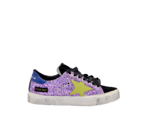 GOLDEN GOOSE DONNA Calzature SNEAKERS MAY GLITTER LILLA 36, 37-2, 38-2, 39-2, 40, 41-2 immagine n. 1/4