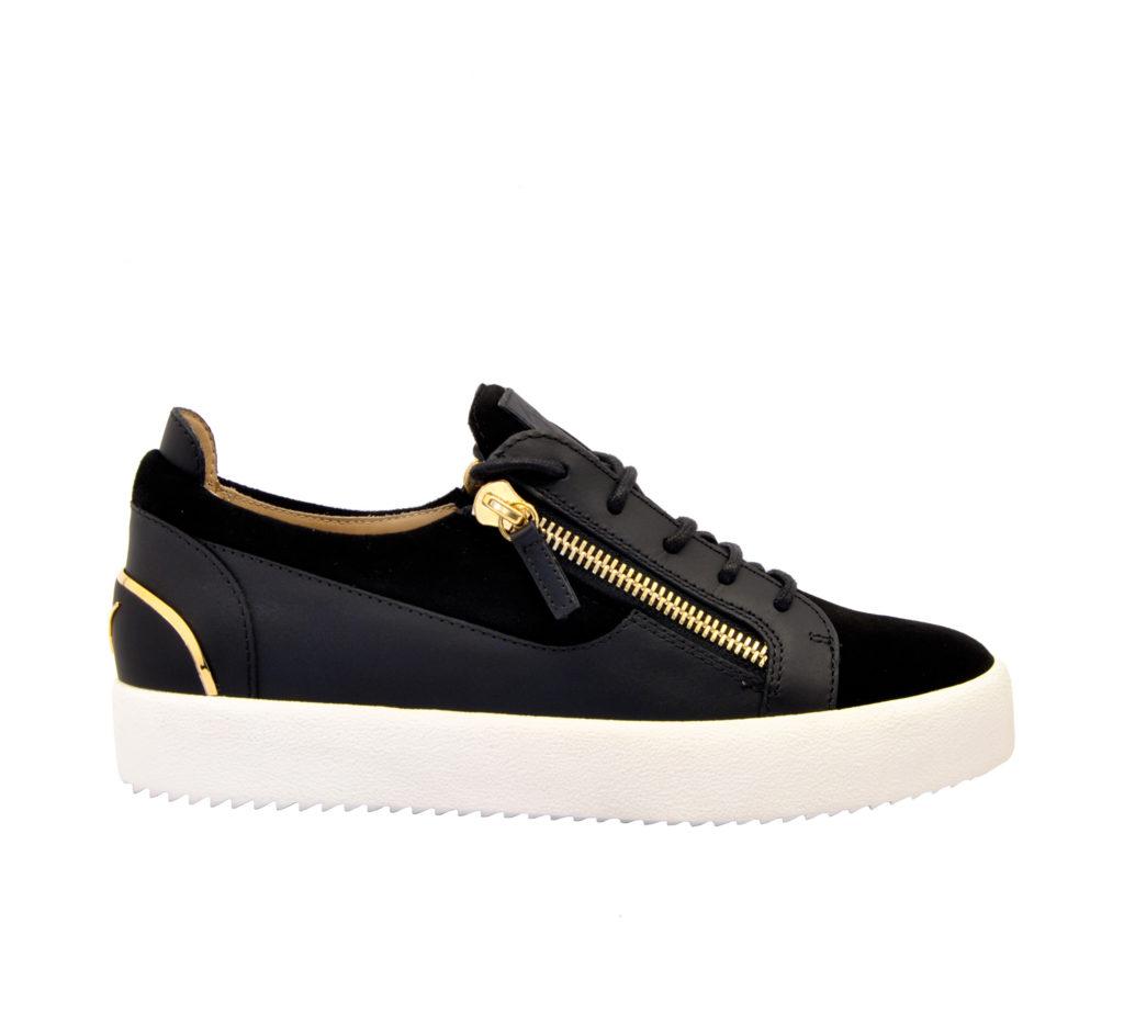 GIUSEPPE ZANOTTI UOMO Sneakers SNEAKERS BASSA CAMOSCIO NERO 42, 43-2, 44-2 immagine n. 1/4