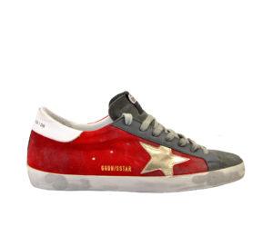 GOLDEN GOOSE UOMO Sneakers SNEAKERS SUPERSTAR CAMOSCIO ROSSO 39-2, 40, 41-2, 42, 43-2, 44-2, 45-2 immagine n. 1/4