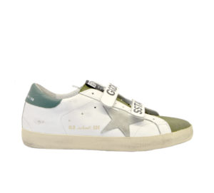 GOLDEN GOOSE UOMO Sneakers SNEAKERS OLD SCHOOL BIANCO STRAPPI 39-2, 40, 41-2, 42, 43-2, 44-2 immagine n. 1/4