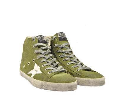 GOLDEN GOOSE UOMO Sneakers SNEAKERS FRANCY CAMOSCIO MILITARE 40, 41-2, 42, 43-2, 44-2, 45-2 immagine n. 1/4