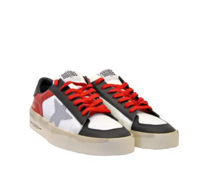 GOLDEN GOOSE UOMO Sneakers SNEAKERS STARDAN ROSSO NERO BIANCO 40, 42, 43-2, 44-2, 45-2 immagine n. 1/4