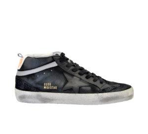 GOLDEN GOOSE UOMO Sneakers SNEAKERS MID STAR NERO 40, 41-2, 42, 43-2, 45-2, 46-2 immagine n. 1/4