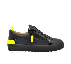 GIUSEPPE ZANOTTI UOMO Sneakers SNEAKERS NERO GIALLO FLUO 40, 41-2, 42, 43-2, 44-2, 45-2 immagine n. 1/8