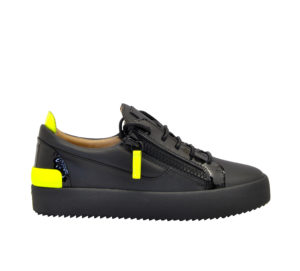 GIUSEPPE ZANOTTI UOMO Sneakers SNEAKERS NERO GIALLO FLUO 40, 41-2, 42, 43-2, 44-2, 45-2 immagine n. 1/4