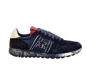 premiata UOMO Sneakers SNEAKERS CAMOSCIO BLU 40, 41-2, 42, 43-2, 44-2, 45-2, 46-2 immagine n. 1/4
