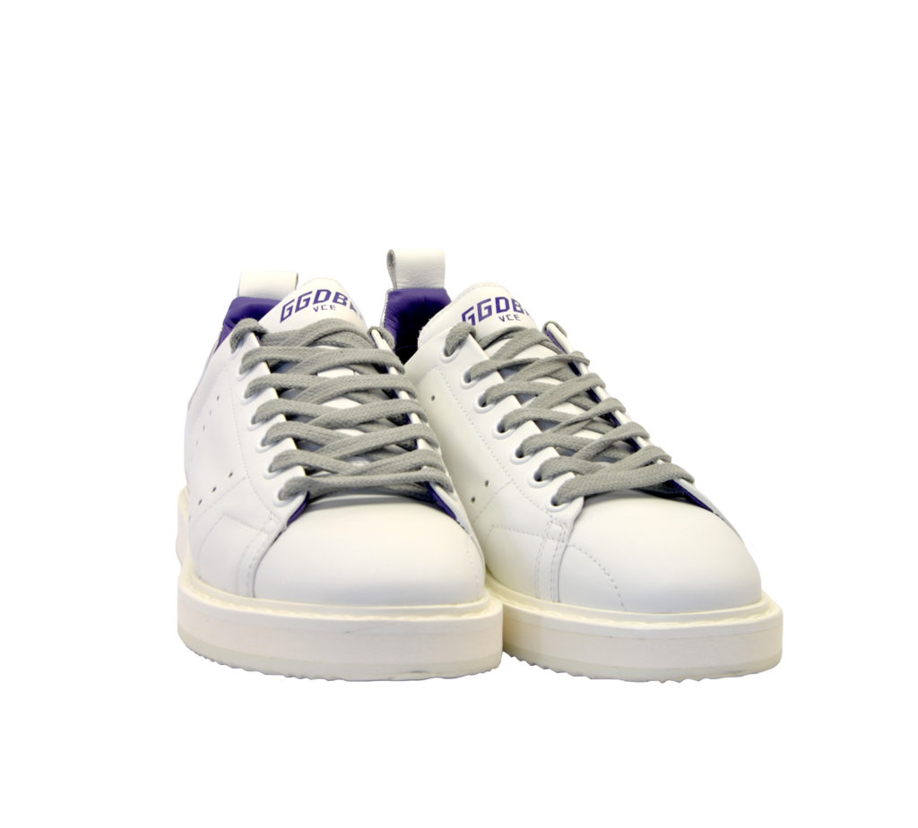 GOLDEN GOOSE DONNA Donna SNEAKERS STARTER PELLE BIANCO ARGENTO 35, 36, 37-2, 38-2, 40 immagine n. 2/4