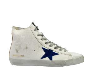 GOLDEN GOOSE UOMO Sneakers SNEAKERS FRANCY PELLE BIANCO 40, 42, 43-2 immagine n. 1/4