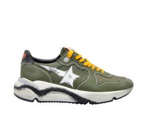GOLDEN GOOSE UOMO Sneakers SNEAKERS RUNNING CANVAS MILITARE 39-2, 40, 41-2, 42, 44-2, 45-2 immagine n. 1/4