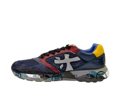 premiata UOMO Sneakers SNEAKERS BLU ROSSO GIALLO 40, 41-2, 42, 43-2, 44-2, 45-2, 46-2 immagine n. 1/4