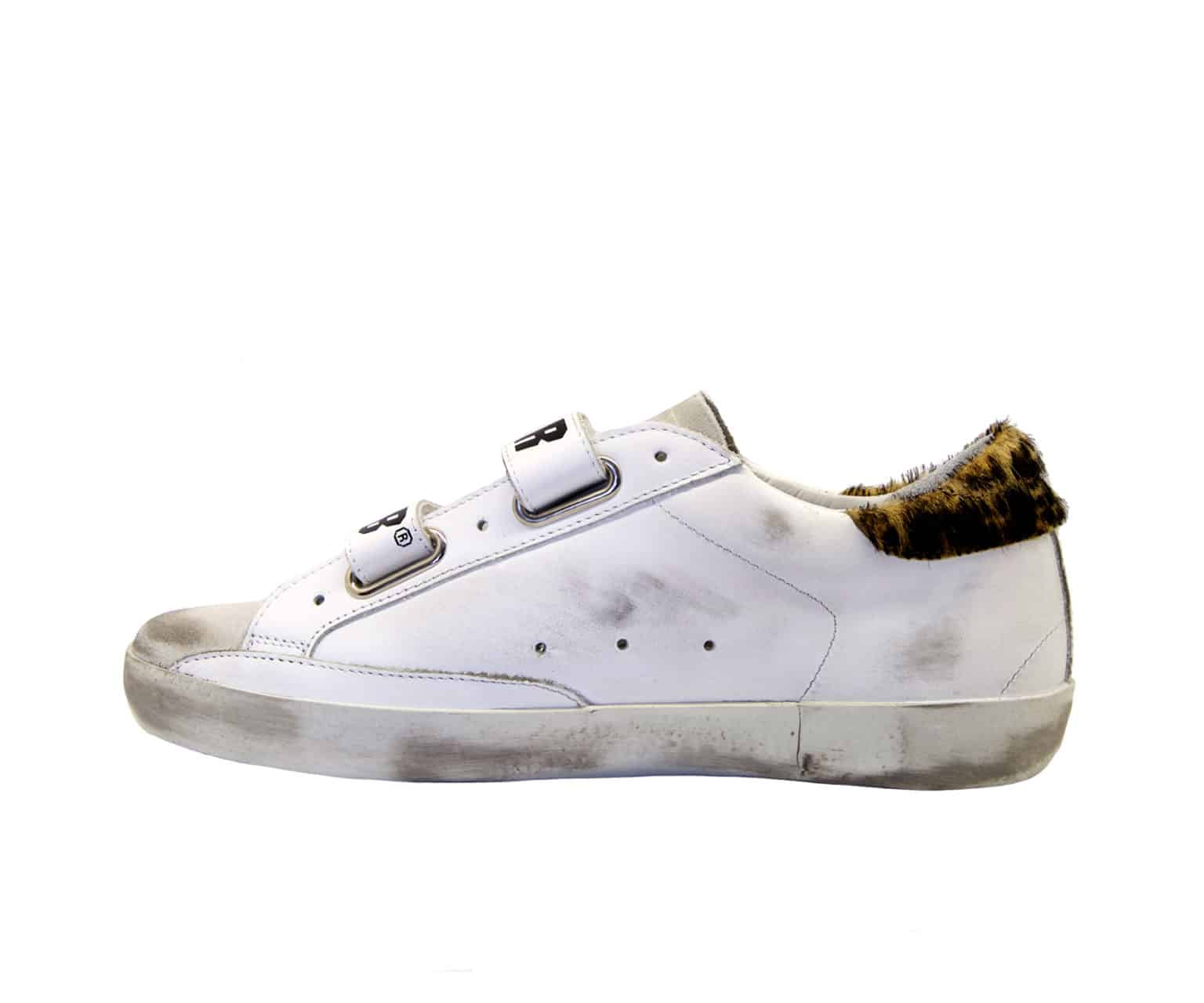 GOLDEN GOOSE DONNA Donna SNEAKERS OLD SCHOOL BIANCO MACULATO 36, 37-2, 38-2, 39-2, 40, 35 immagine n. 3/4