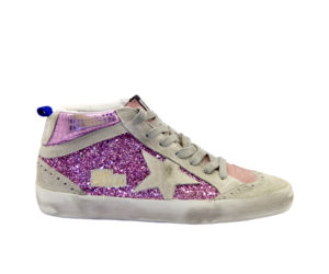 GOLDEN GOOSE DONNA Calzature SNEAKERS MID STAR GLITTER PINK 38-2, 39-2, 40, 41-2 immagine n. 1/4