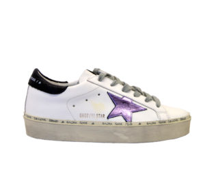 GOLDEN GOOSE DONNA Donna SNEAKERS HI STAR BIANCO LILLA 36, 37-2, 38-2, 39-2, 40, 41-2 immagine n. 1/4