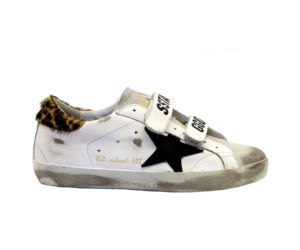 GOLDEN GOOSE DONNA Donna SNEAKERS OLD SCHOOL BIANCO MACULATO 36, 37-2, 38-2, 39-2, 40 immagine n. 1/4