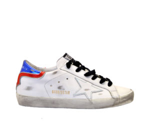 GOLDEN GOOSE DONNA Donna SNEAKERS SUPERSTAR BIANCO BLU ROSSO 36, 37-2, 38-2, 39-2, 41-2 immagine n. 1/4