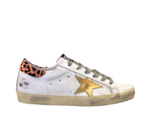GOLDEN GOOSE DONNA Donna SNEAKERS SUPERSTAR BIANCO LEOPARD 36, 37-2, 38-2, 39-2, 40, 41-2 immagine n. 1/4
