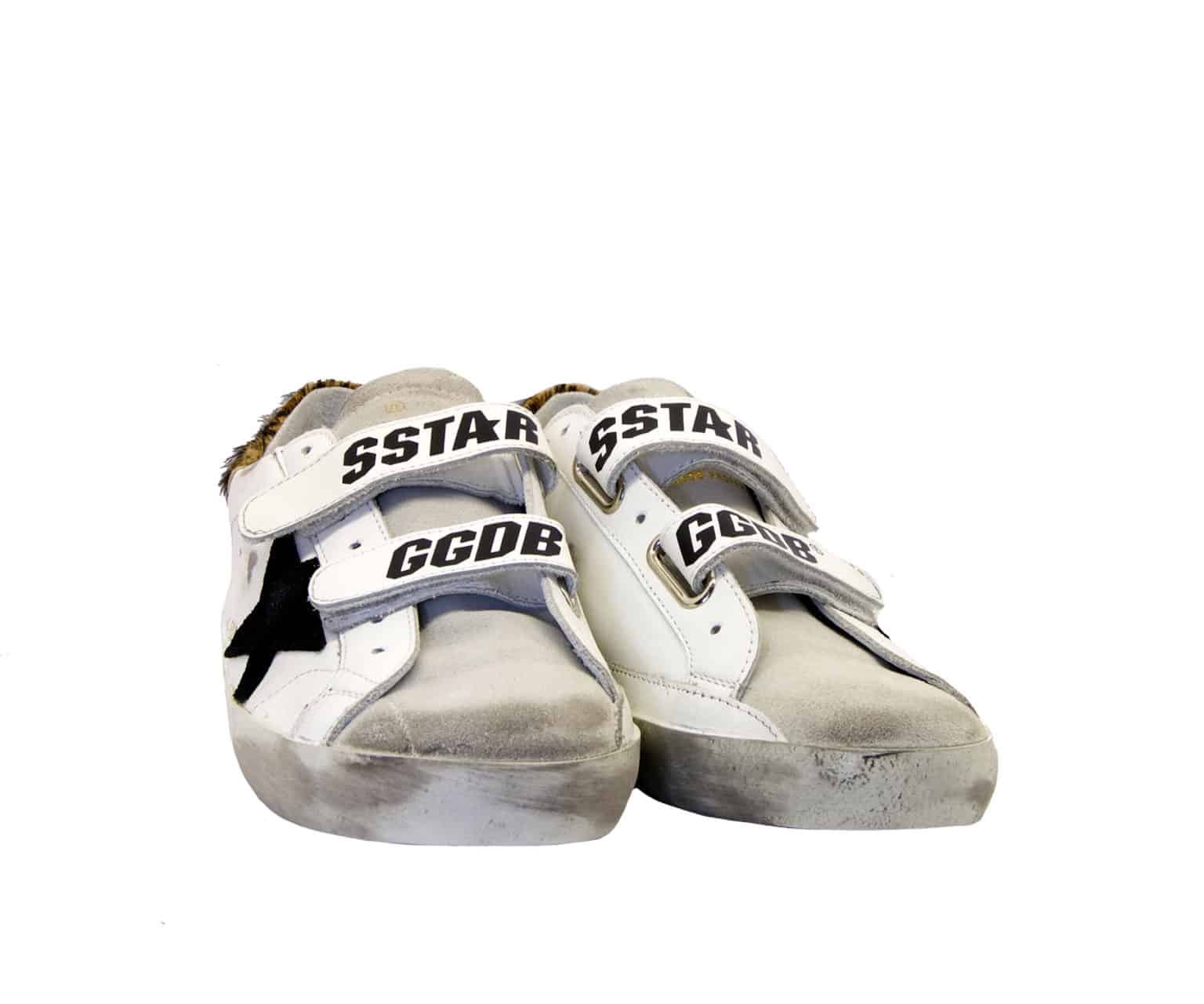 GOLDEN GOOSE DONNA Donna SNEAKERS OLD SCHOOL BIANCO MACULATO 36, 37-2, 38-2, 39-2, 40, 35 immagine n. 2/4