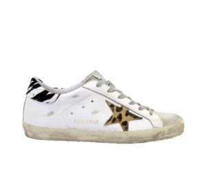 GOLDEN GOOSE DONNA Donna SNEAKERS SUPERSTAR BIANCO ANIMALIER 36, 37-2, 38-2, 39-2, 40, 41-2 immagine n. 1/4