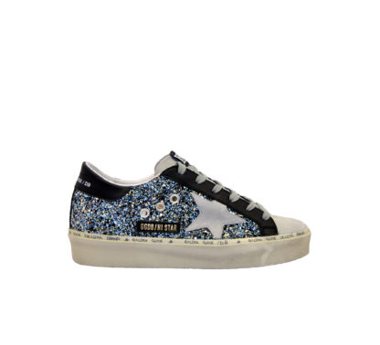 GOLDEN GOOSE DONNA Donna SNEAKERS HI STAR GLITTER BLUE 40, 40-2, 41, 41-2, 42, 42-2, 43-2, 43, 44-2, 44, 45-2, 46-2, 39, 4, 34-2, 34, 35, 36, 35-2, 36-2, 37-2, 37, 38-2, 38, 39-2 immagine n. 1/4