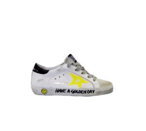 GOLDEN GOOSE UNISEX Sneakers SNEAKERS BIANCO SCRITTE 27 immagine n. 1/4