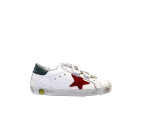 GOLDEN GOOSE UNISEX Sneakers SNEAKERS OLD SCHOOL BIANCO 28, 29, 30, 31, 32, 33, 34-2, 35 immagine n. 1/4