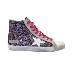GOLDEN GOOSE DONNA Donna SNEAKERS FRANCY GLITTER MULTICOLOR 35, 36, 37-2, 38-2, 39-2, 40, 41-2 immagine n. 1/4