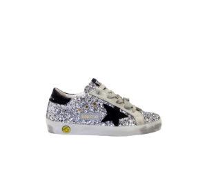 GOLDEN GOOSE UNISEX Sneakers SNEAKERS SUPERSTAR ARGENTO 28, 29, 30, 31, 32, 33, 34-2, 35 immagine n. 1/4