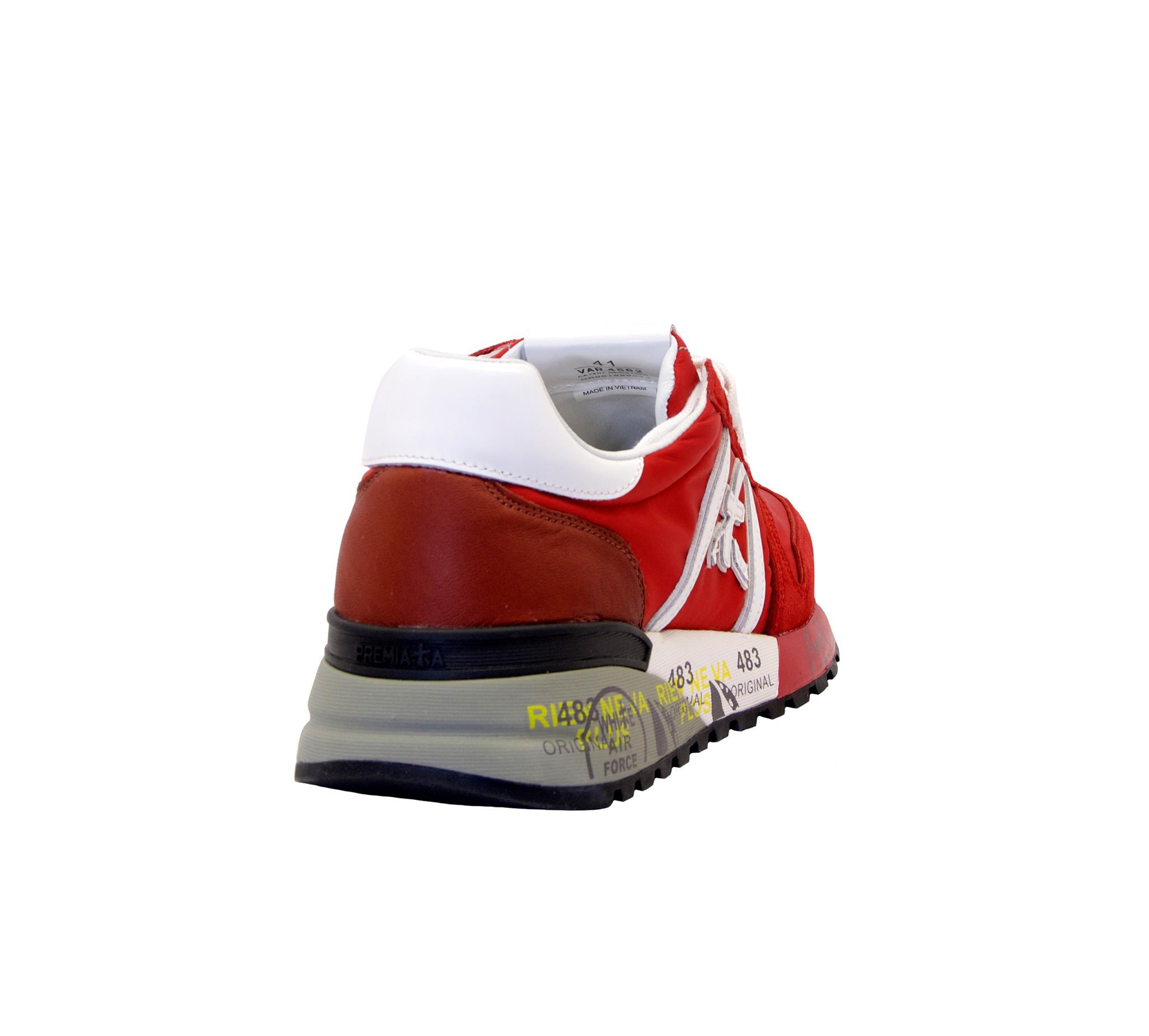 Sneakers Uomo PREMIATA Lander 4562 Camoscio Tessuto Rosso