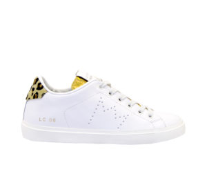 LEATHER CROWN DONNA Donna SNEAKERS BIANCO MACULATO 36, 37-2, 38-2, 39-2, 40, 41-2 immagine n. 1/4