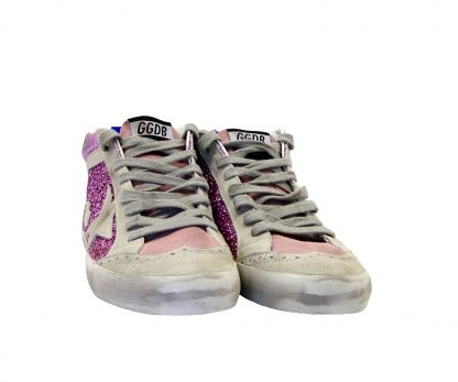 GOLDEN GOOSE DONNA Donna SNEAKERS MID STAR GLITTER PINK 35, 36, 37-2 immagine n. 2/4