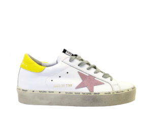 GOLDEN GOOSE DONNA Donna SNEAKERS HI STAR BIANCO GIALLO ROSA 36, 37-2, 38-2, 39-2, 40 immagine n. 1/4