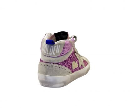 GOLDEN GOOSE DONNA Donna SNEAKERS MID STAR GLITTER PINK 35, 36, 37-2 immagine n. 4/4