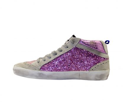GOLDEN GOOSE DONNA Donna SNEAKERS MID STAR GLITTER PINK 35, 36, 37-2 immagine n. 3/4