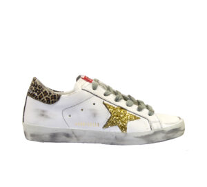 GOLDEN GOOSE DONNA Donna SNEAKERS SUPERSTAR BIANCO MACULATO ORO 36, 37-2, 38-2, 39-2, 40, 41-2 immagine n. 1/4