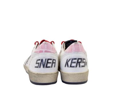 GOLDEN GOOSE DONNA Sneakers SNEAKERS BALLSTAR BIANCO ROSA 36, 38-2, 39-2 immagine n. 4/4