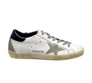 GOLDEN GOOSE UOMO Sneakers SNEAKERS SUPERSTAR IN PELLE BIANCO BLU 40, 41-2, 42, 43-2, 44-2, 45-2, 46-2, 39-2 immagine n. 1/4