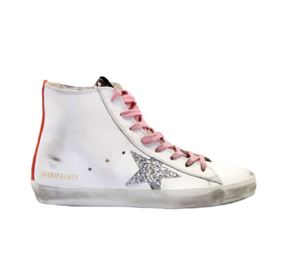 GOLDEN GOOSE DONNA Sneakers SNEAKERS FRANCY BIANCO 35, 36, 40, 37-2, 41-2 immagine n. 1/4