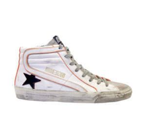 GOLDEN GOOSE UOMO Sneakers SNEAKERS SLIDE BIANCO ORANGE 39-2, 40, 41-2, 42, 43-2, 44-2, 45-2 immagine n. 1/4
