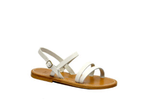k.jacques DONNA Calzature SANDALO BASSO PELLE BIANCO 37-2, 38-2, 39-2, 40, 41-2 immagine n. 1/4