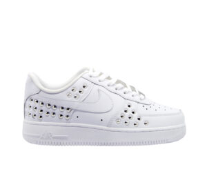 NIKE DONNA Donna SNEAKERS AIR FORCE BIANCO BORCHIE 39-2, 37, 38-2, 38, 40, 36-2 immagine n. 1/4