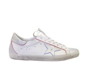 GOLDEN GOOSE UOMO Sneakers SNEAKERS SUPERSTAR BIANCO ARGENTO 39-2, 41-2, 42, 43-2, 44-2, 45-2 immagine n. 1/4