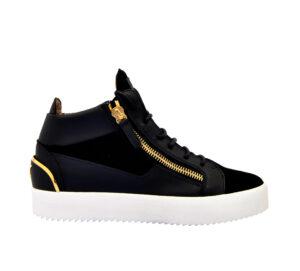 GIUSEPPE ZANOTTI UOMO Sneakers SNEAKERS ALTA CAMOSCIO NERO 40, 41-2, 41, 42, 42-2, 43-2, 43, 44-2 immagine n. 1/4