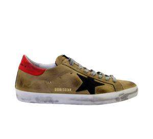 GOLDEN GOOSE UOMO Sneakers SNEAKERS SUPERSTAR NABUK NOCCIOLA 40, 41-2, 42, 43-2, 44-2 immagine n. 1/4